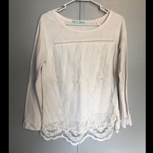 Maurice's Lace Cream/White  Sweater Medium
